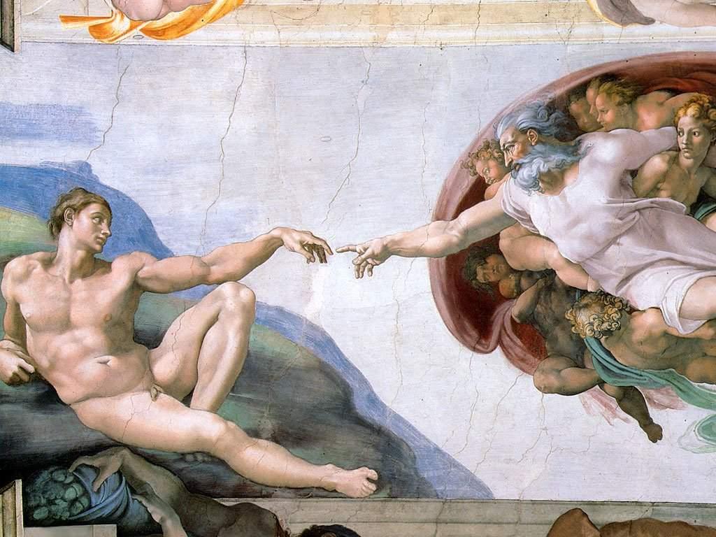 La-creazione-di-Adamo-Michelangelo