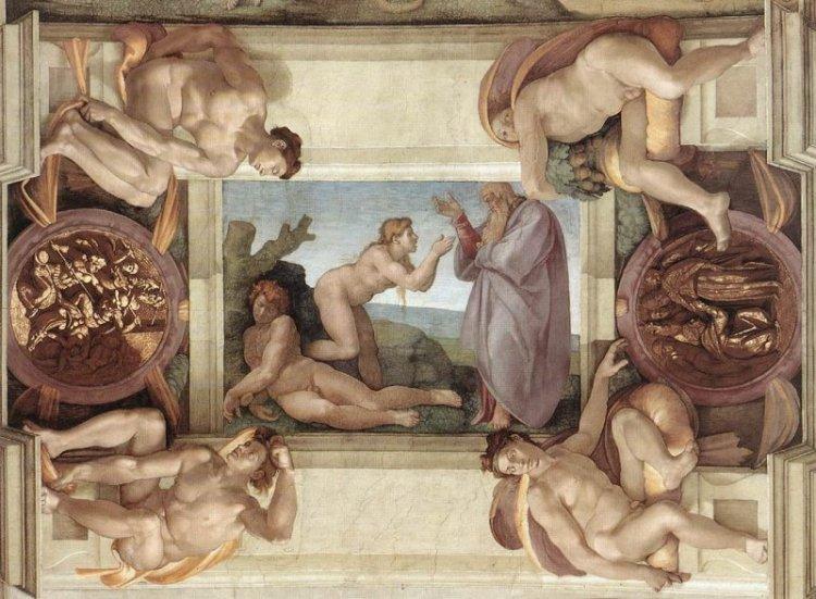 Creazione di Eva cappella Sistina