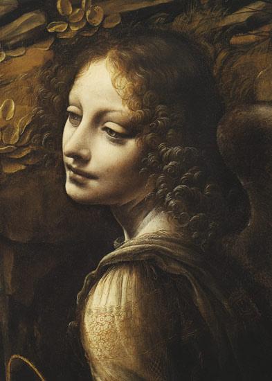 la vergine delle rocce particolare angelo