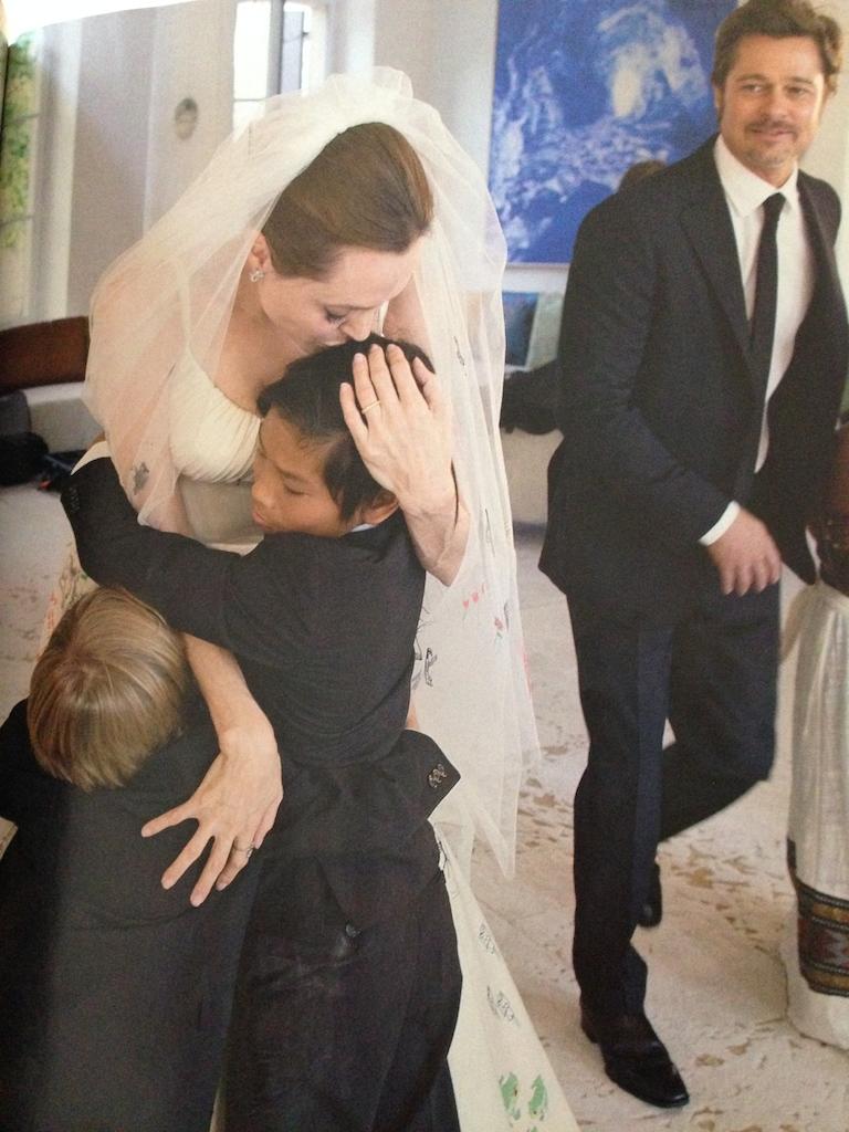 BRAD PITT ANGELINA JOLIE  WEDDING