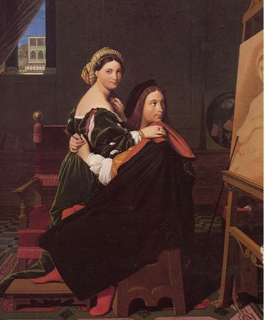 Ingres Raffaello e Margherita Luti
