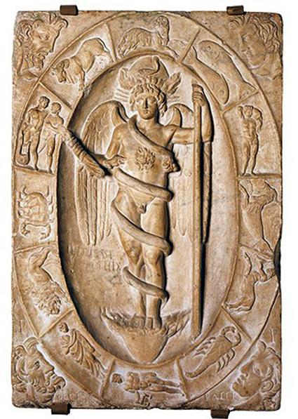 Rilievo-con-Phanes,-II-sec.-ca.Modena,-Museo-Civico-Archeologico
