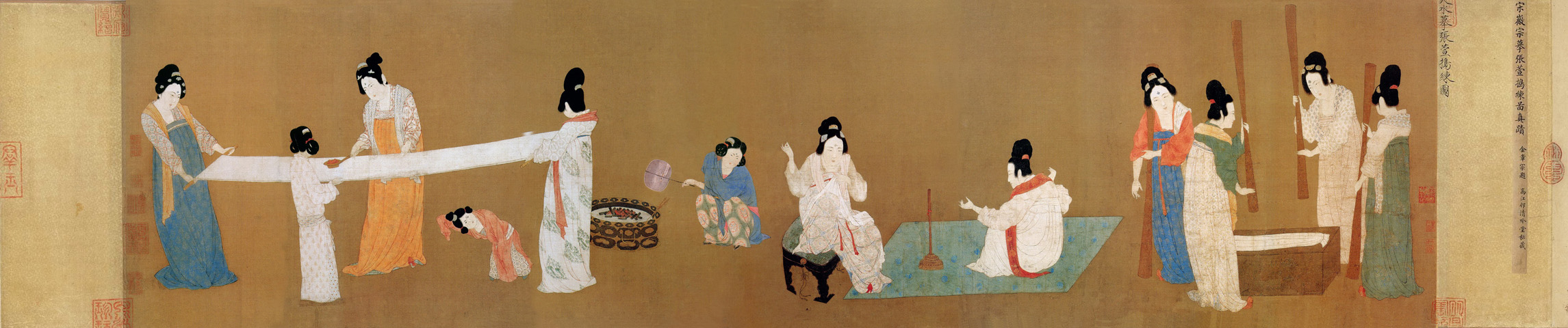 court-ladies-preparing-newly-woven-silk