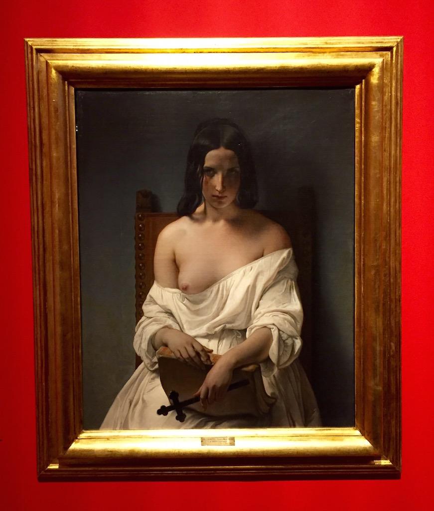 """""""La Meditazione"""" Hayez, 1851 in mostra a Milano alleGallerie d'Italia"""