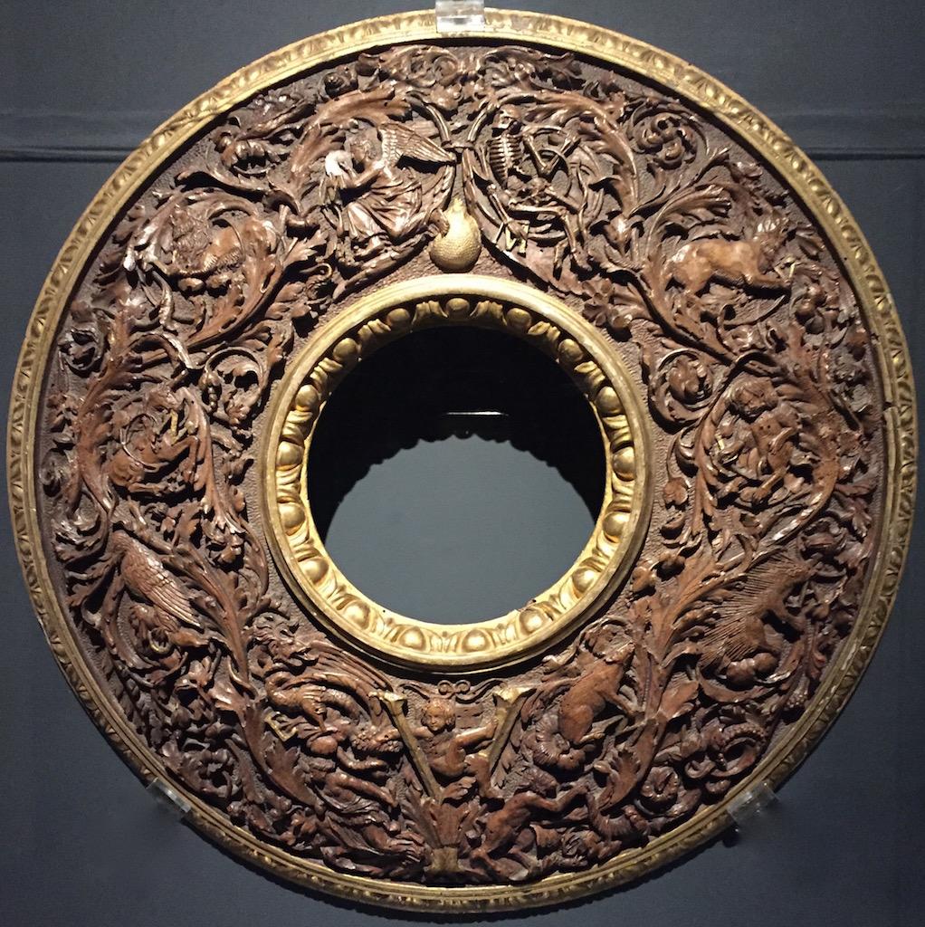 Cornice per specchio. Intagliatore attivo a Ferrara 1505-10